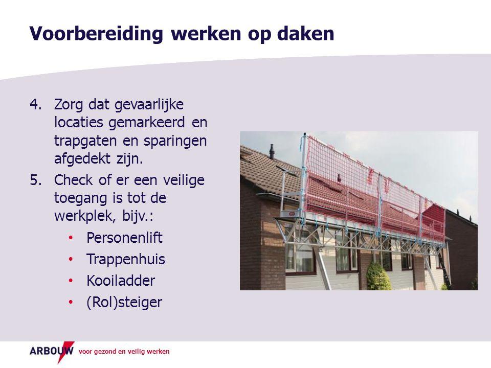 Voorbereiding werken op daken