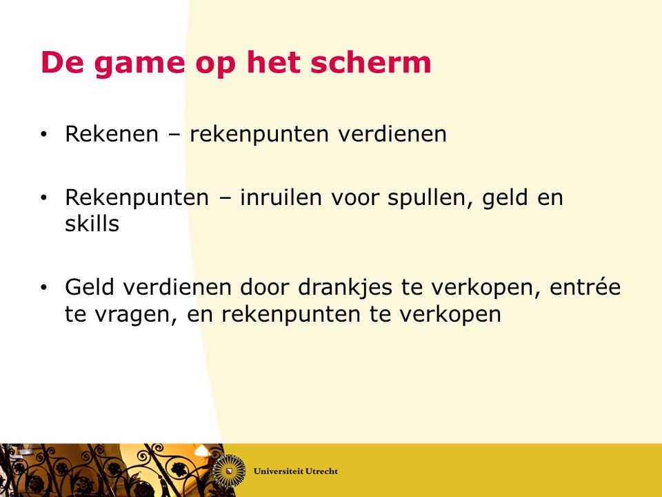 De game op het scherm Rekenen – rekenpunten verdienen