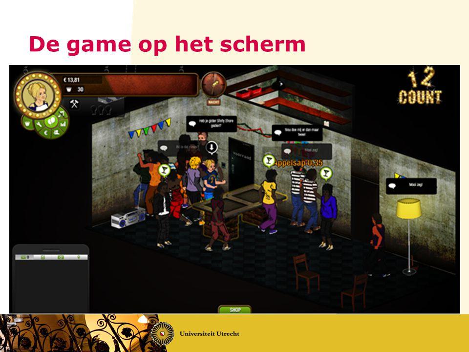De game op het scherm Boodschap: de game begint vrij sober, met kale muren en sjofele uistraling