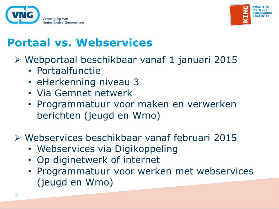 Portaal vs. Webservices