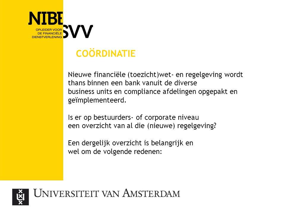 coördinatie Nieuwe financiële (toezicht)wet- en regelgeving wordt