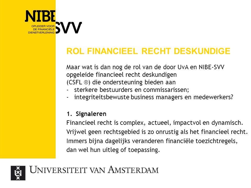 rol financieel recht deskundige