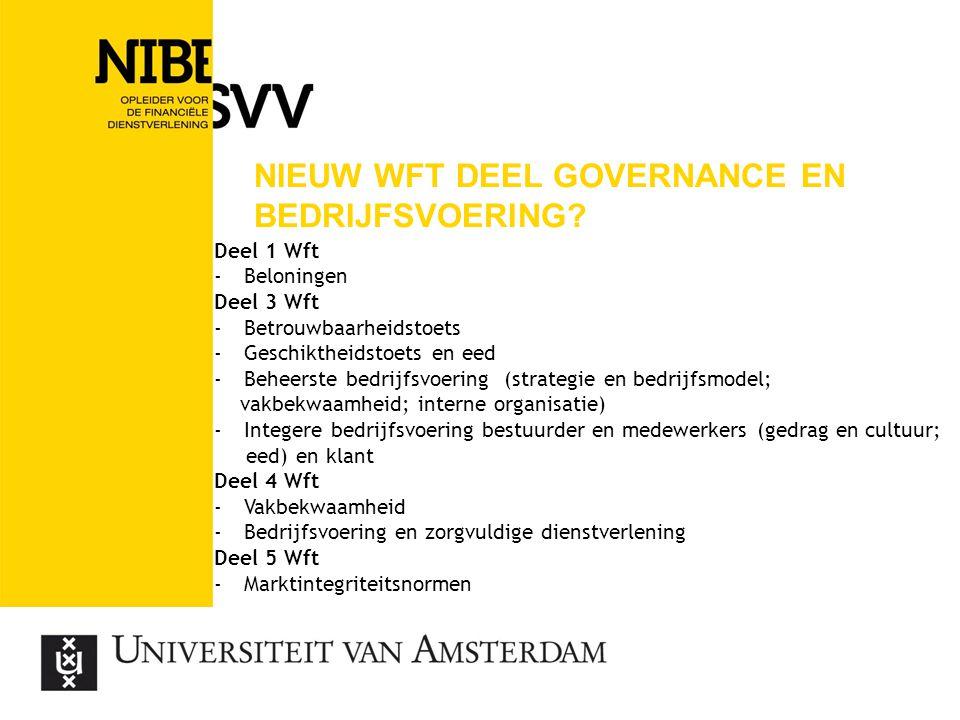 Nieuw wft deel governance en bedrijfsvoering