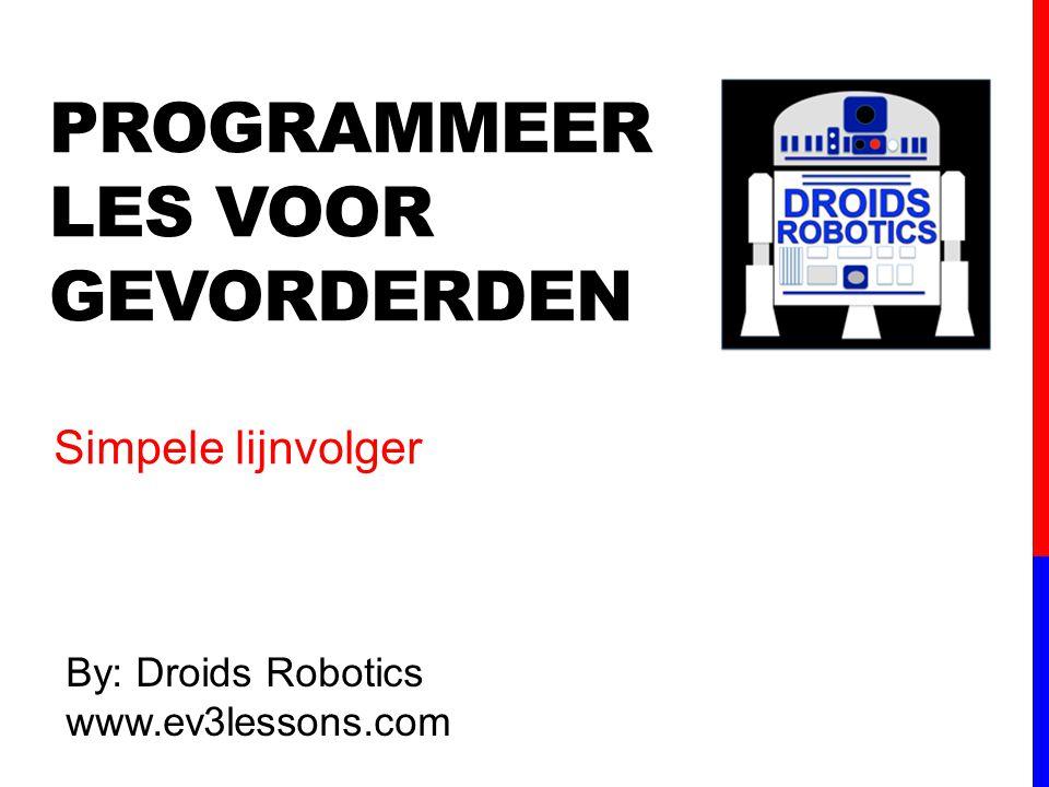 Programmeer les voor gevorderden