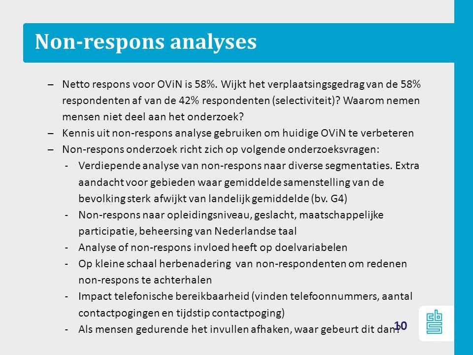 Non-respons analyses