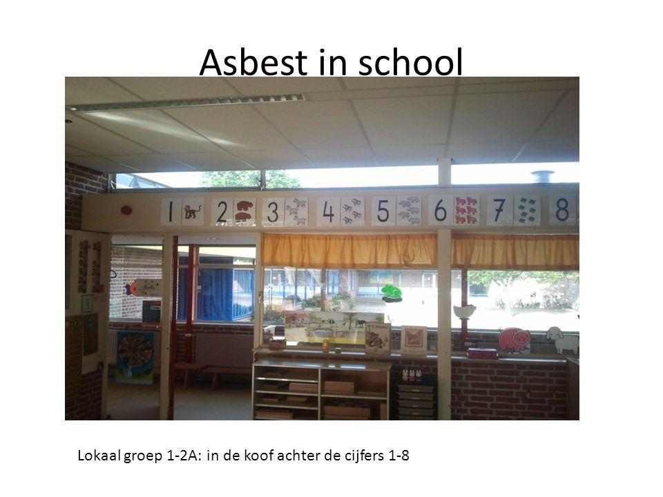 Asbest in school Lokaal groep 1-2A: in de koof achter de cijfers 1-8