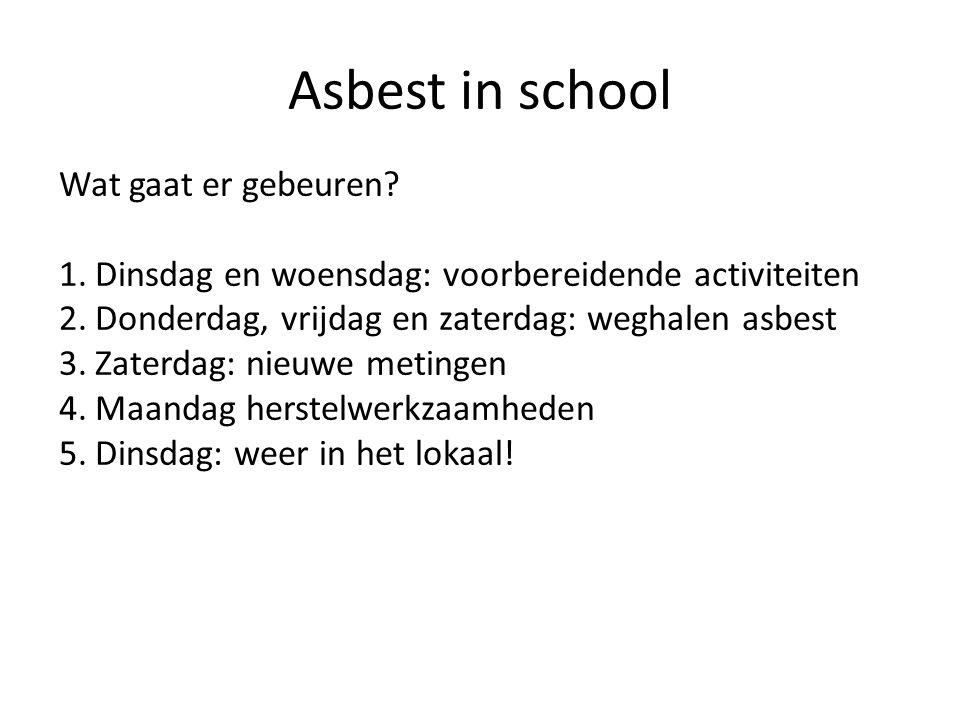 Asbest in school Wat gaat er gebeuren