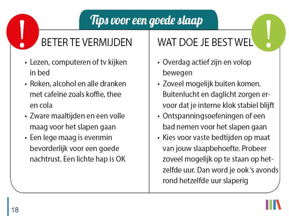 Tips voor een goede slaap