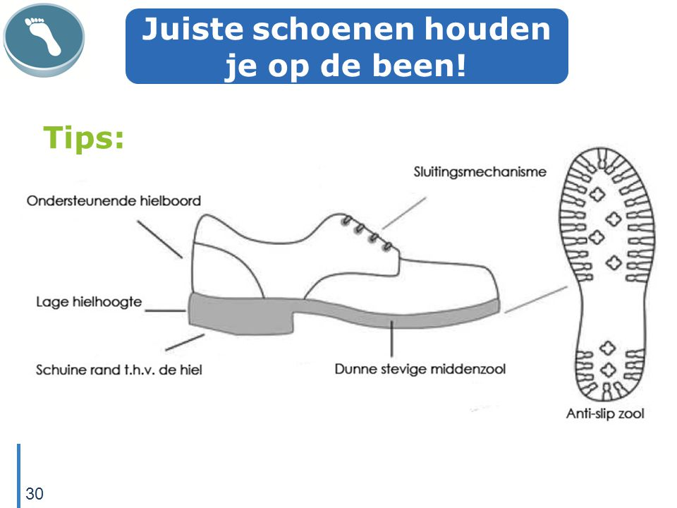 Juiste schoenen houden je op de been!