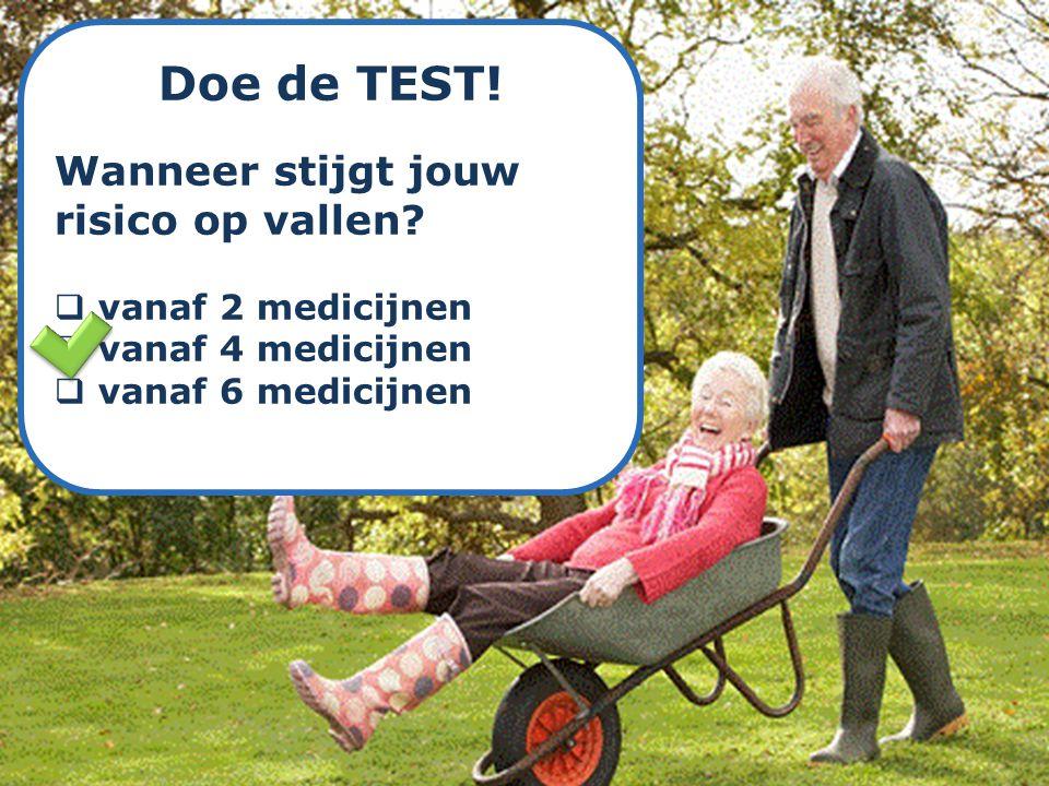 Doe de TEST! Wanneer stijgt jouw risico op vallen vanaf 2 medicijnen