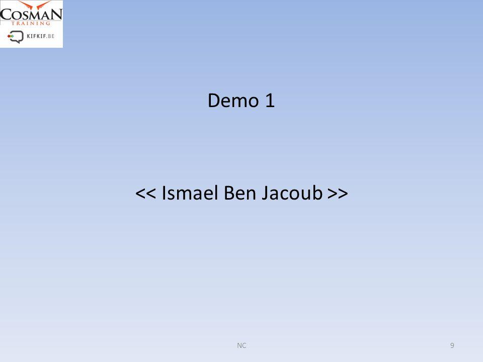Demo 1 << Ismael Ben Jacoub >>