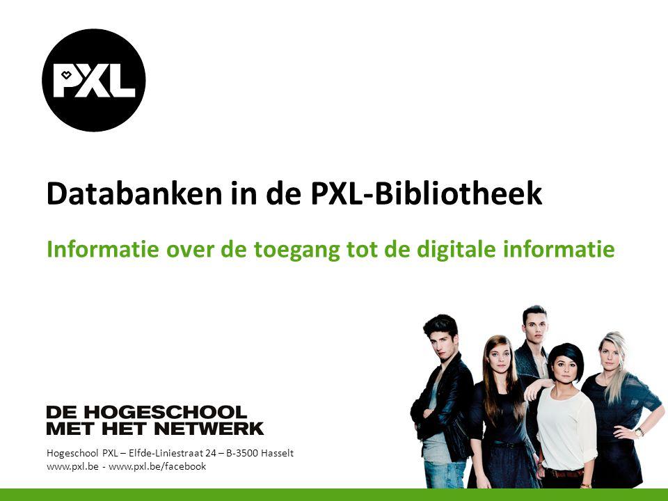 Databanken in de PXL-Bibliotheek