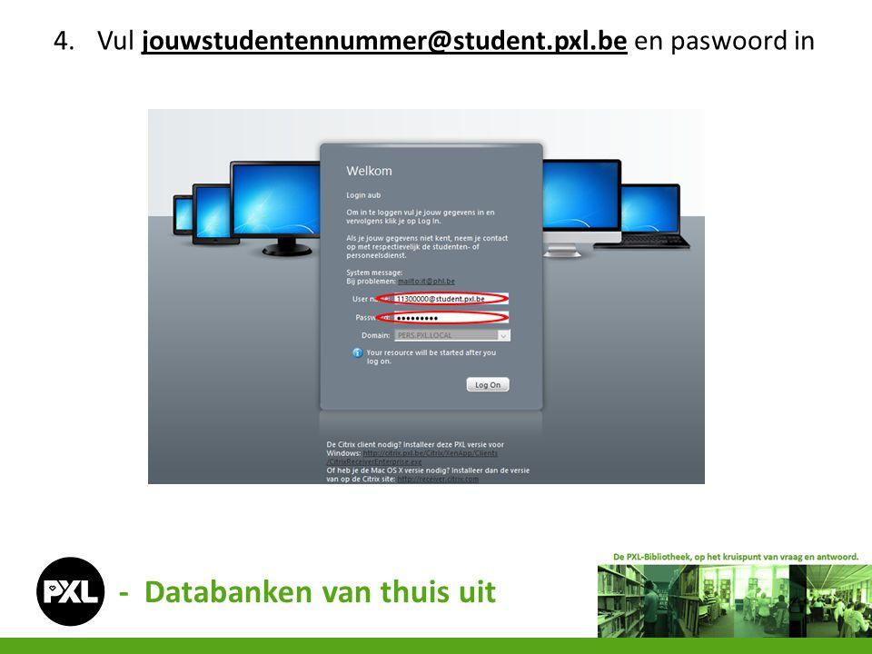 - Databanken van thuis uit