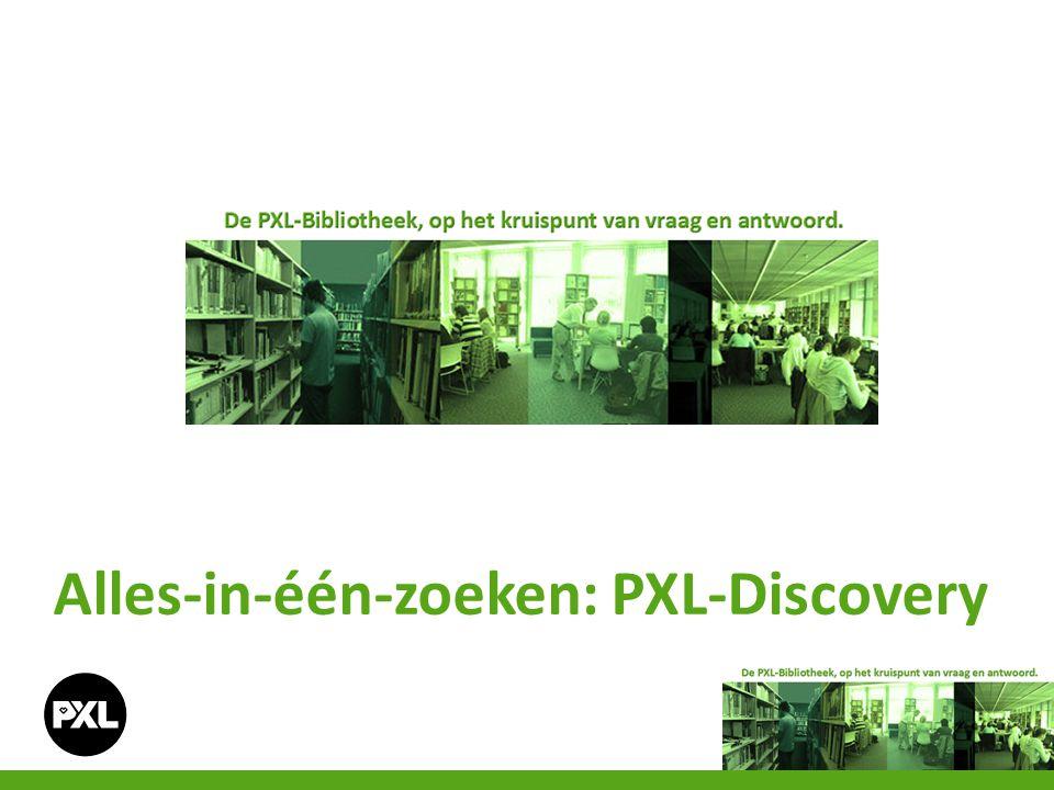 Alles-in-één-zoeken: PXL-Discovery