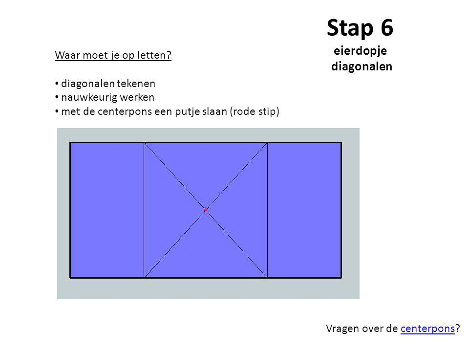 Stap 6 eierdopje diagonalen