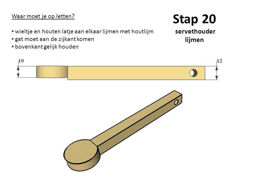 Stap 20 servethouder lijmen