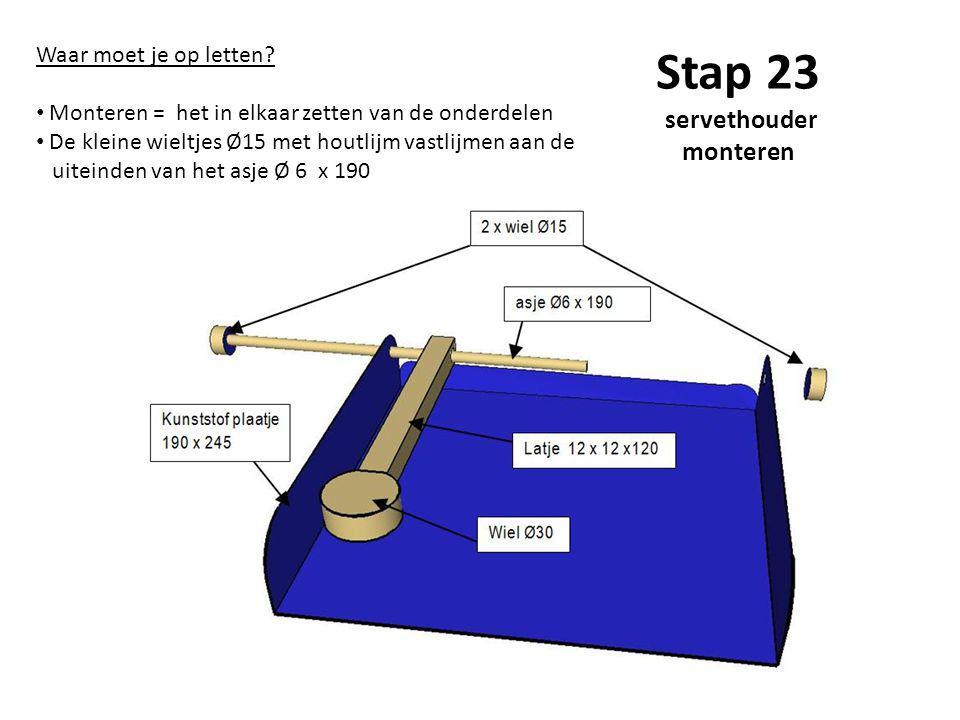 Stap 23 servethouder monteren