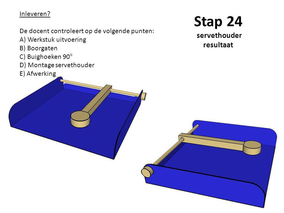 Stap 24 servethouder resultaat