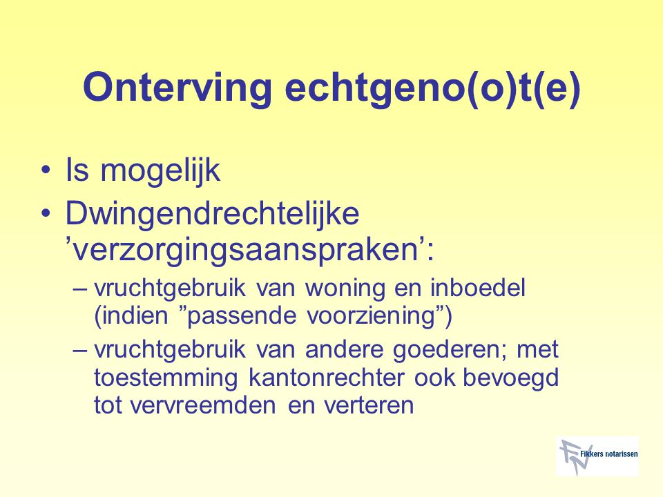 Onterving echtgeno(o)t(e)