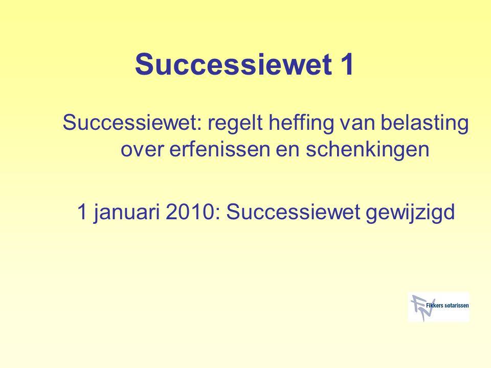 1 januari 2010: Successiewet gewijzigd