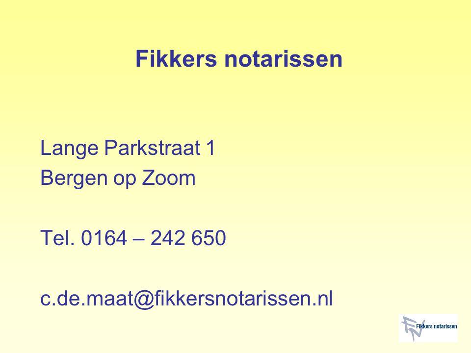 Fikkers notarissen Lange Parkstraat 1 Bergen op Zoom Tel.