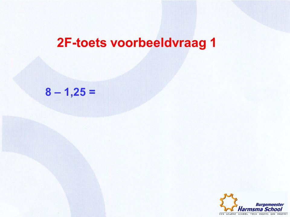 2F-toets voorbeeldvraag 1