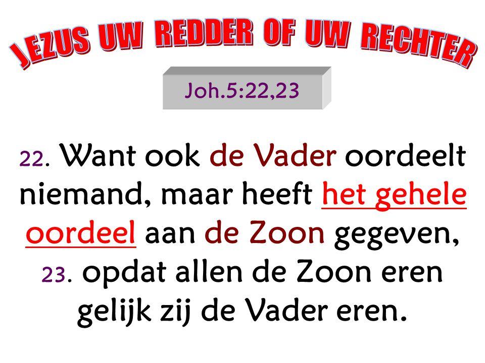 JEZUS UW REDDER OF UW RECHTER