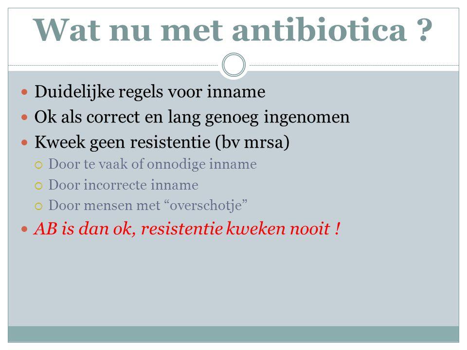 Wat nu met antibiotica Duidelijke regels voor inname