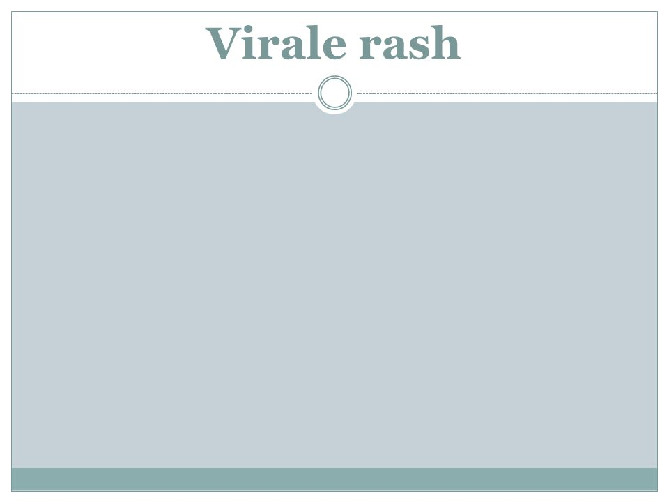 Virale rash