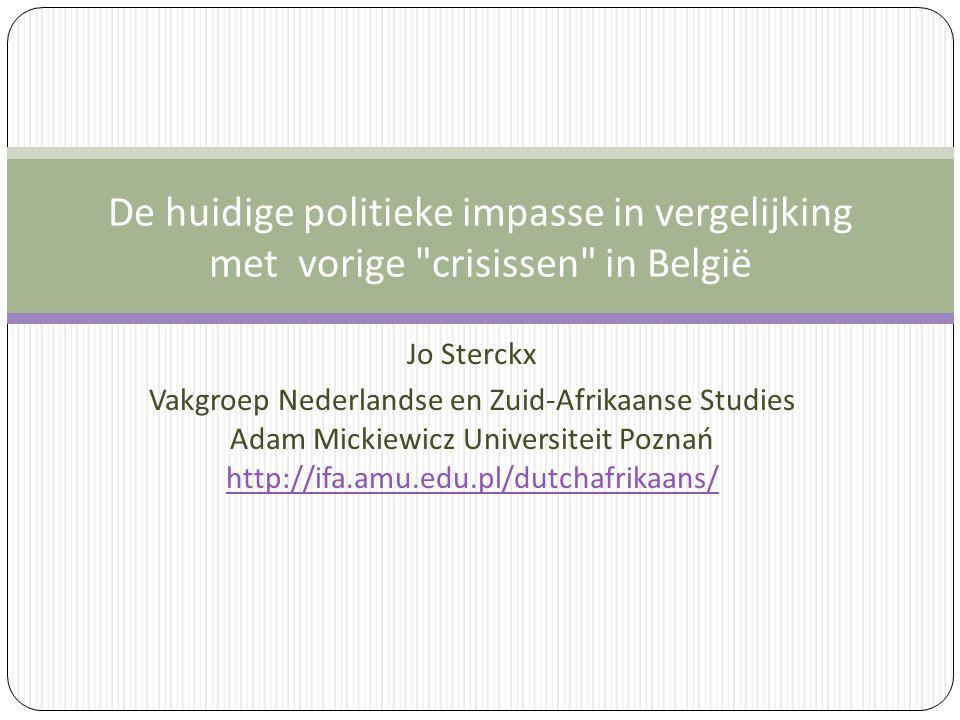 De huidige politieke impasse in vergelijking met vorige crisissen in België