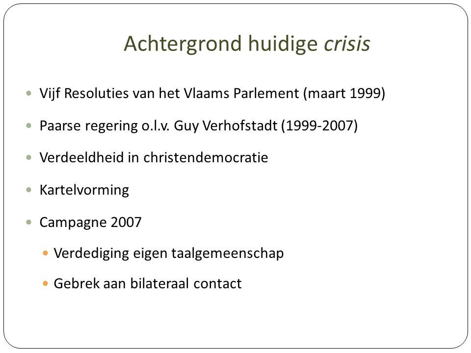 Achtergrond huidige crisis