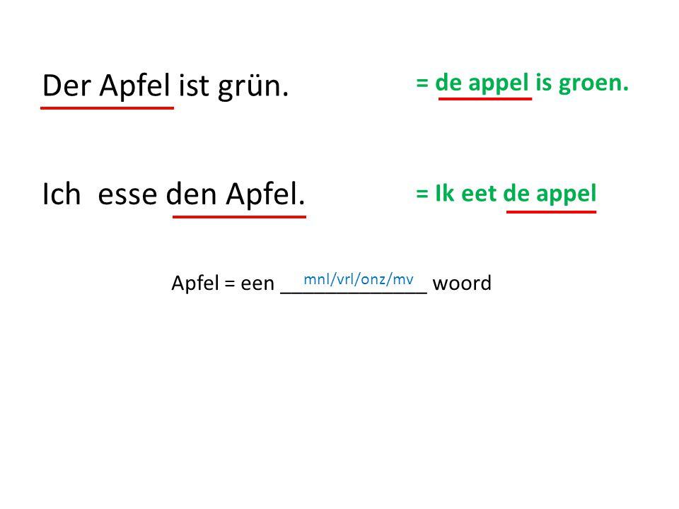 Apfel = een _____________ woord