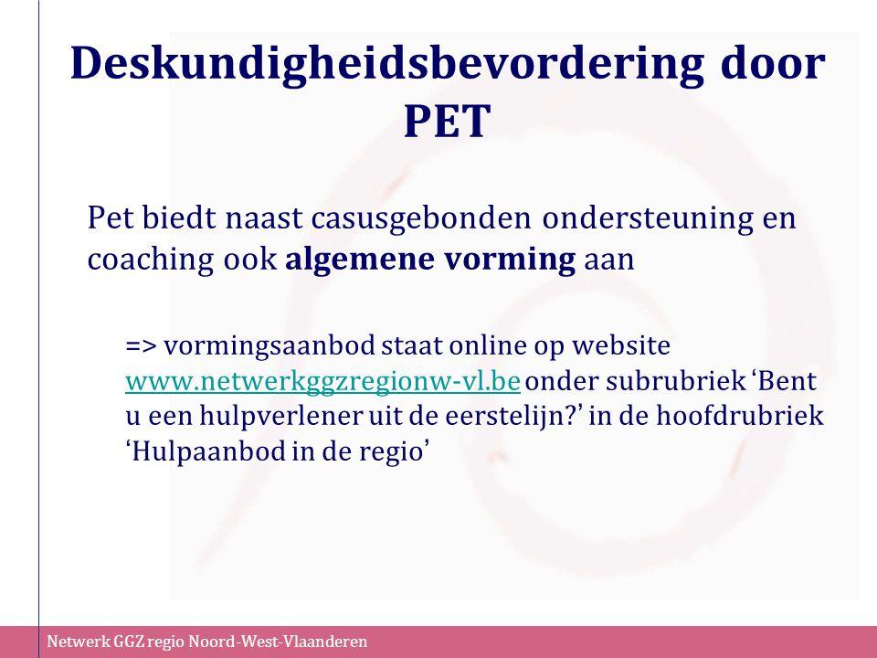 Deskundigheidsbevordering door PET