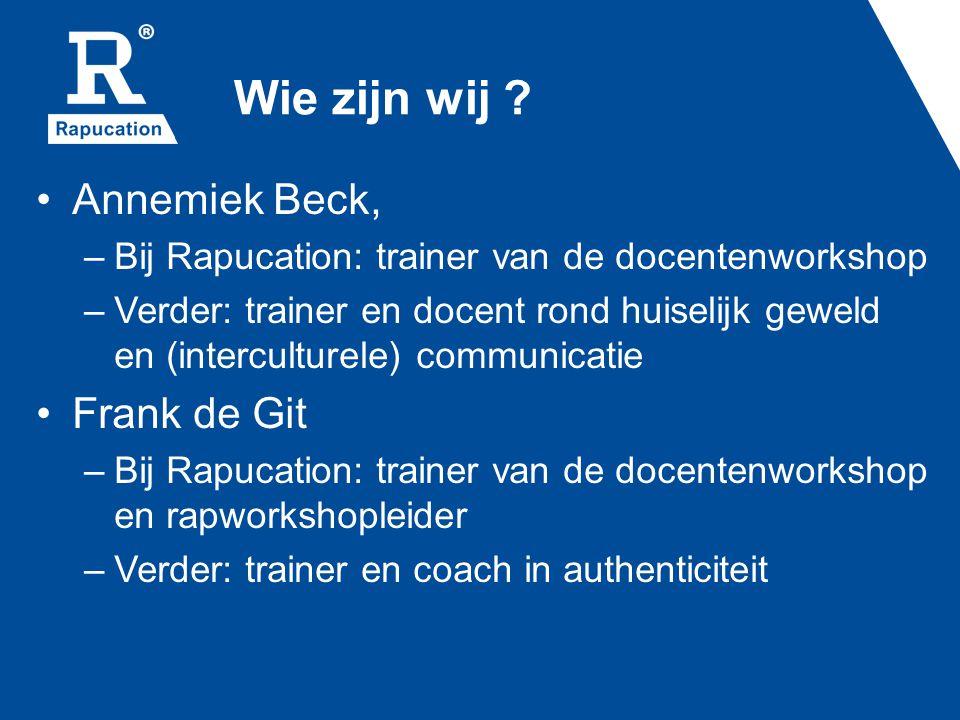 Wie zijn wij Annemiek Beck, Frank de Git