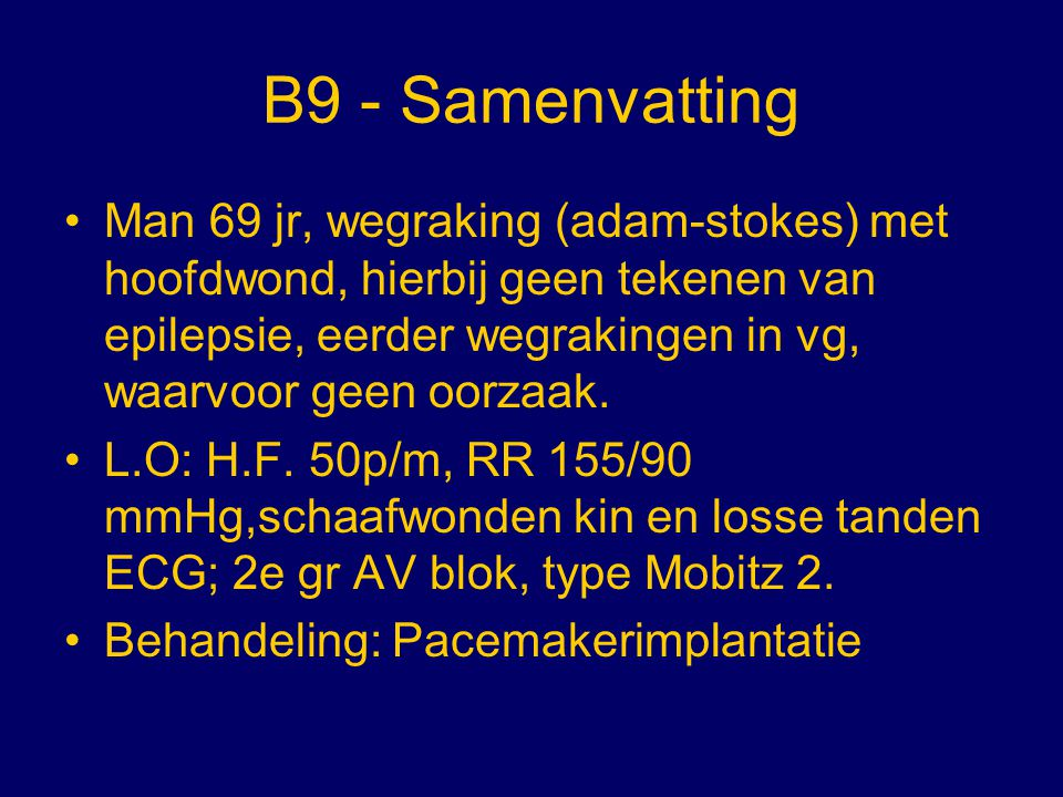 B9 - Samenvatting