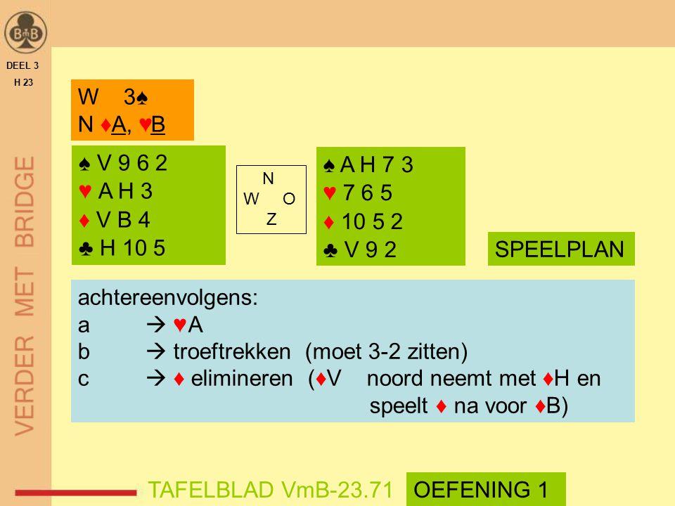 b  troeftrekken (moet 3-2 zitten)