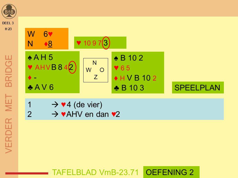 W 6♥ N ♦8 ♥ 10 9 7 3 ♠ A H 5 ♥ A H V B 8 4 2 ♦ - ♣ A V 6 ♠ B 10 2
