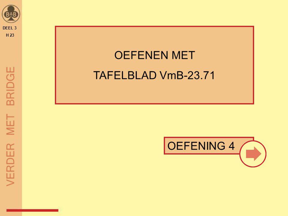 DEEL 3 H 23 OEFENEN MET TAFELBLAD VmB-23.71 OEFENING 4