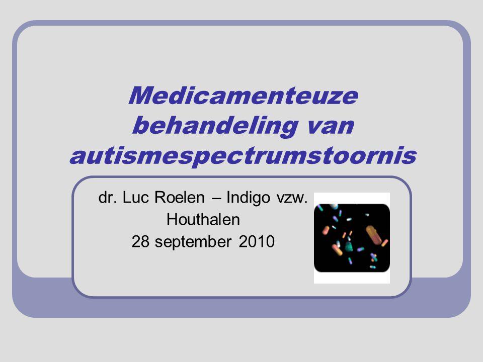 Medicamenteuze behandeling van autismespectrumstoornis