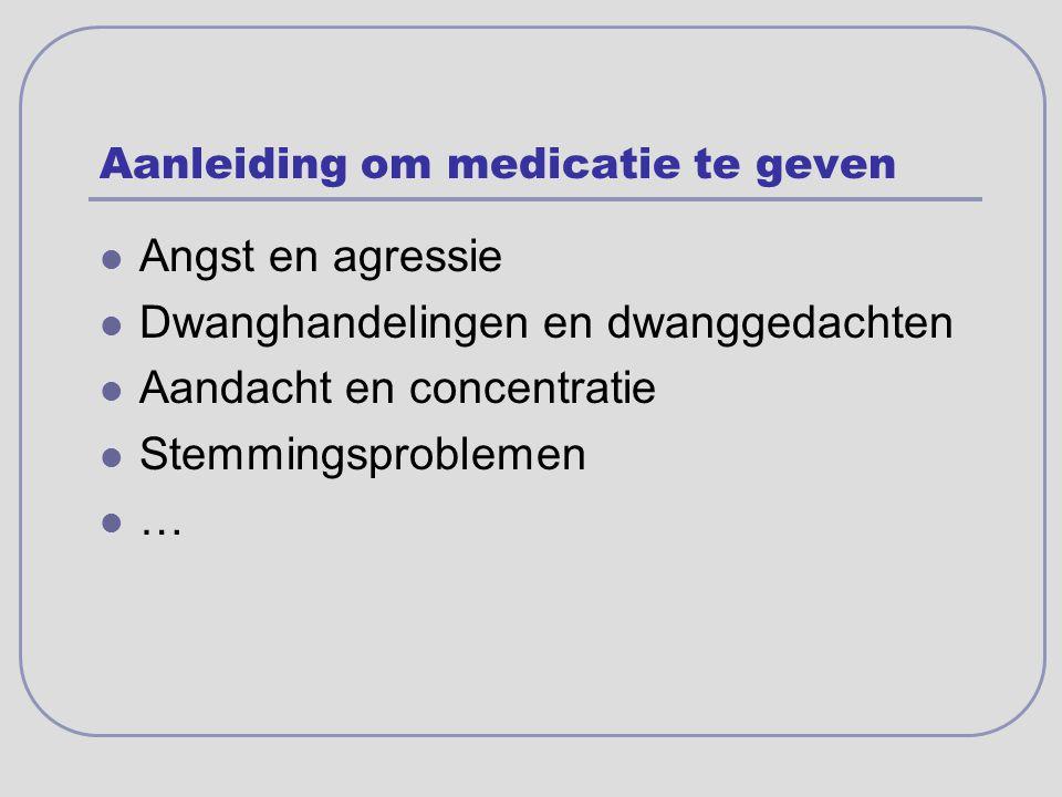 Aanleiding om medicatie te geven
