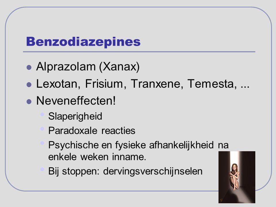 Benzodiazepines Alprazolam (Xanax)