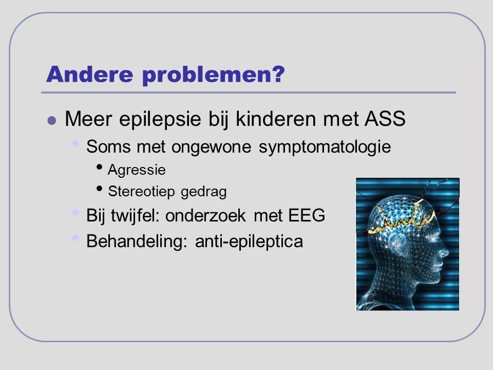 Andere problemen Meer epilepsie bij kinderen met ASS