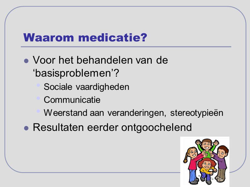 Waarom medicatie Voor het behandelen van de 'basisproblemen'