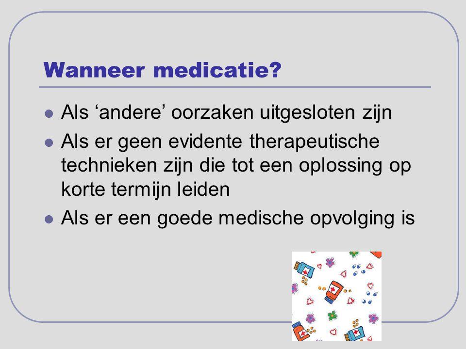 Wanneer medicatie Als 'andere' oorzaken uitgesloten zijn