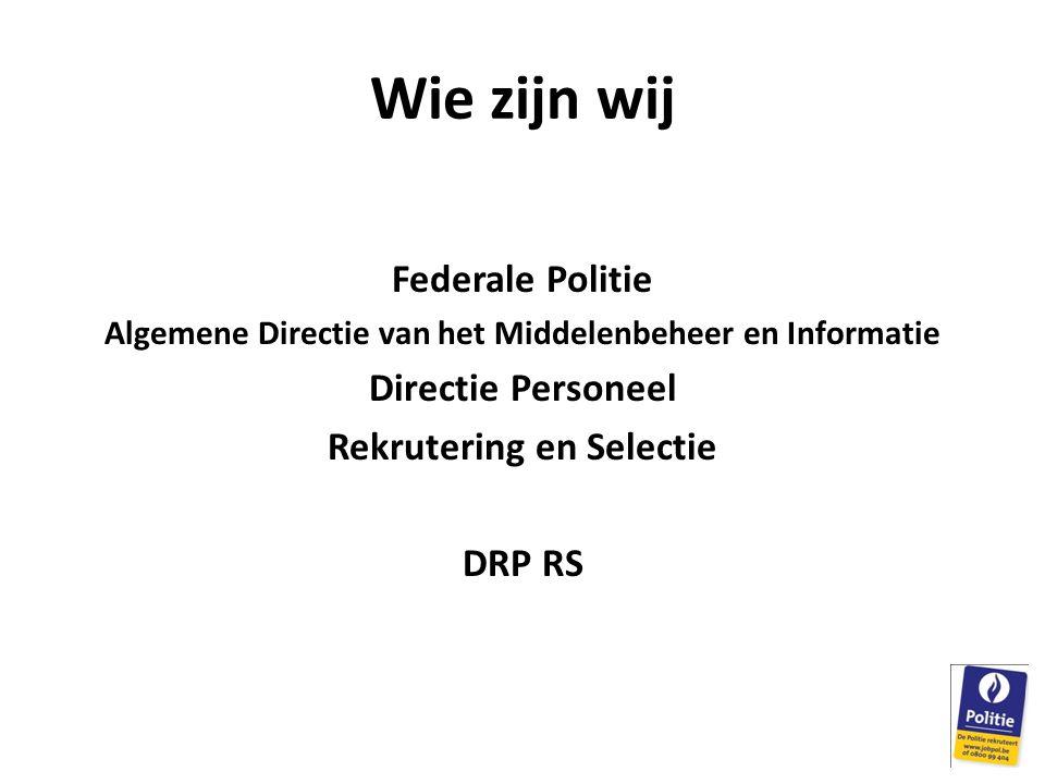 Wie zijn wij Federale Politie Directie Personeel