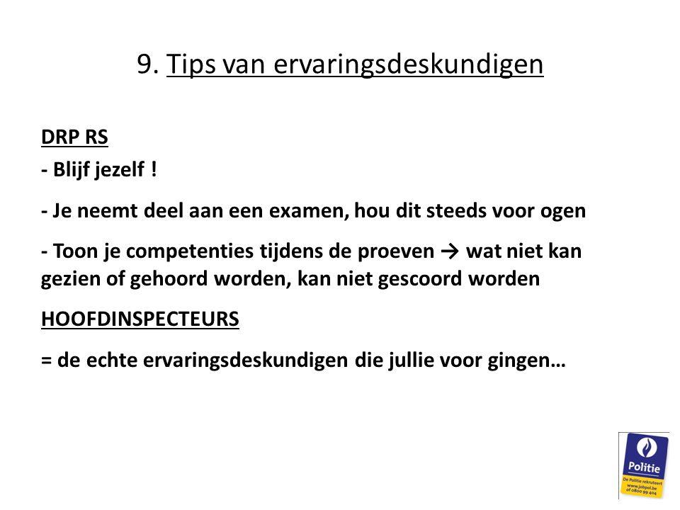 9. Tips van ervaringsdeskundigen