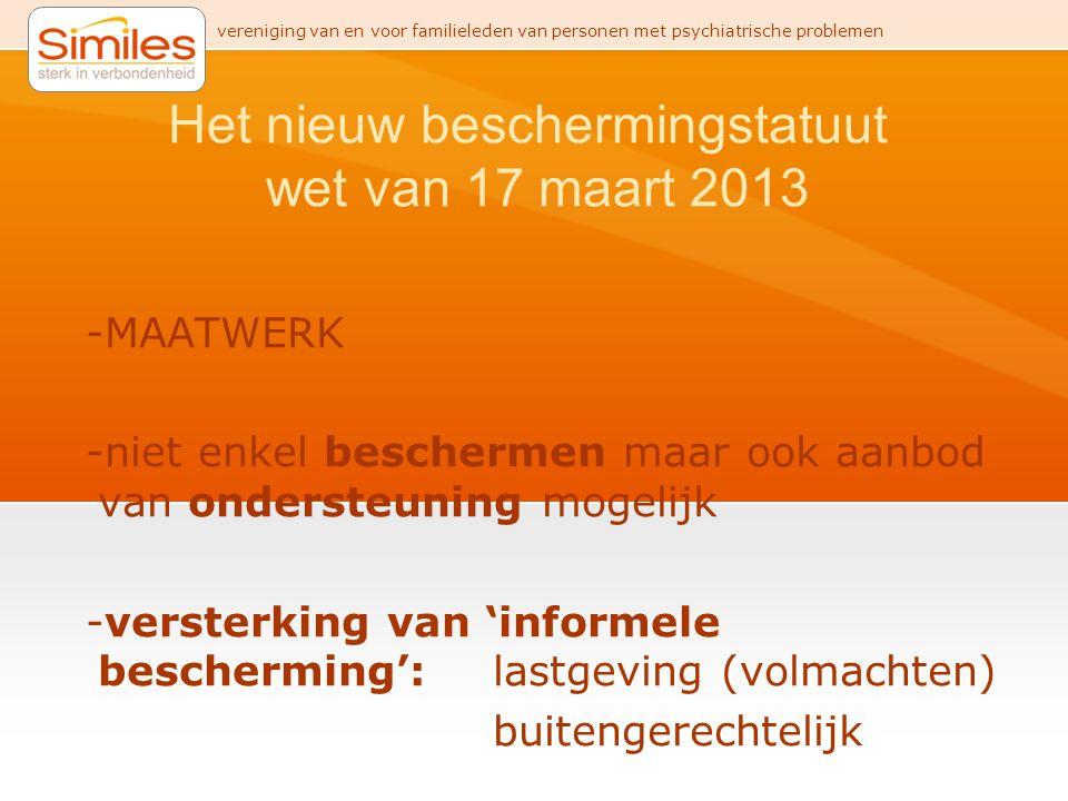 Het nieuw beschermingstatuut wet van 17 maart 2013