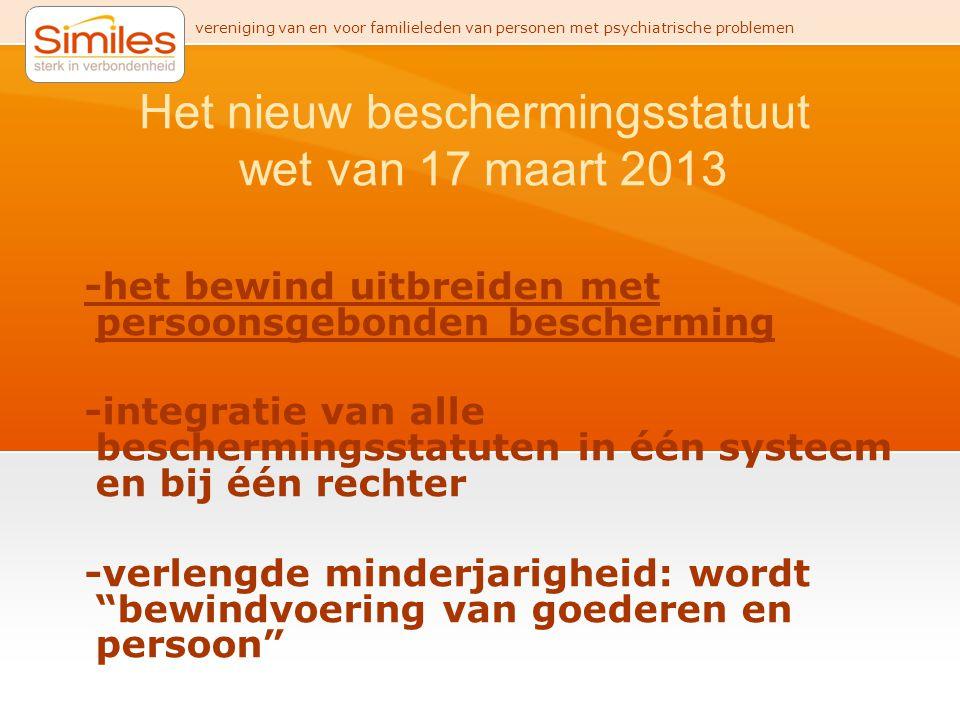 Het nieuw beschermingsstatuut wet van 17 maart 2013