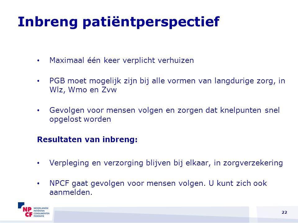 Inbreng patiëntperspectief
