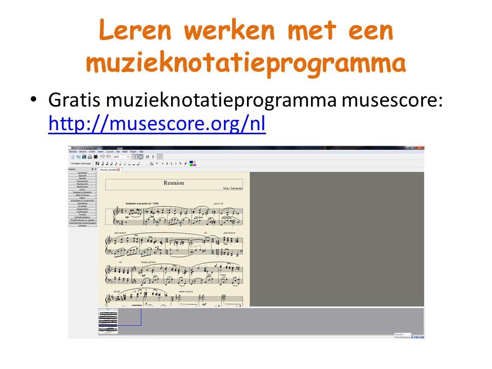 Leren werken met een muzieknotatieprogramma